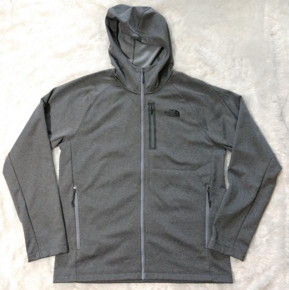 a52e55555 North Face Hooded Fleece Lined Zip Up Sweatshirt